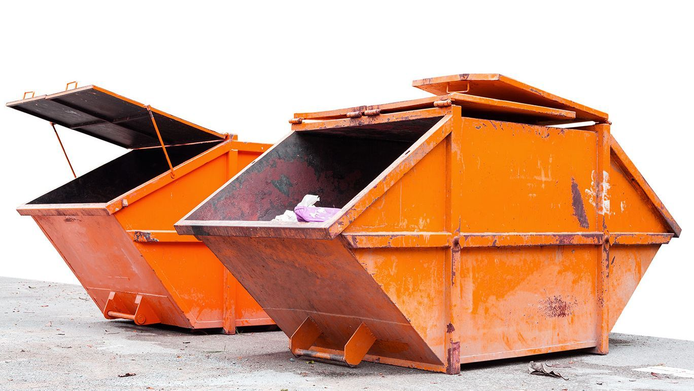 Two of our skips available to hire