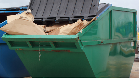 some of our skips filled with waste